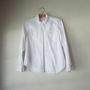 Gap white cotton button down